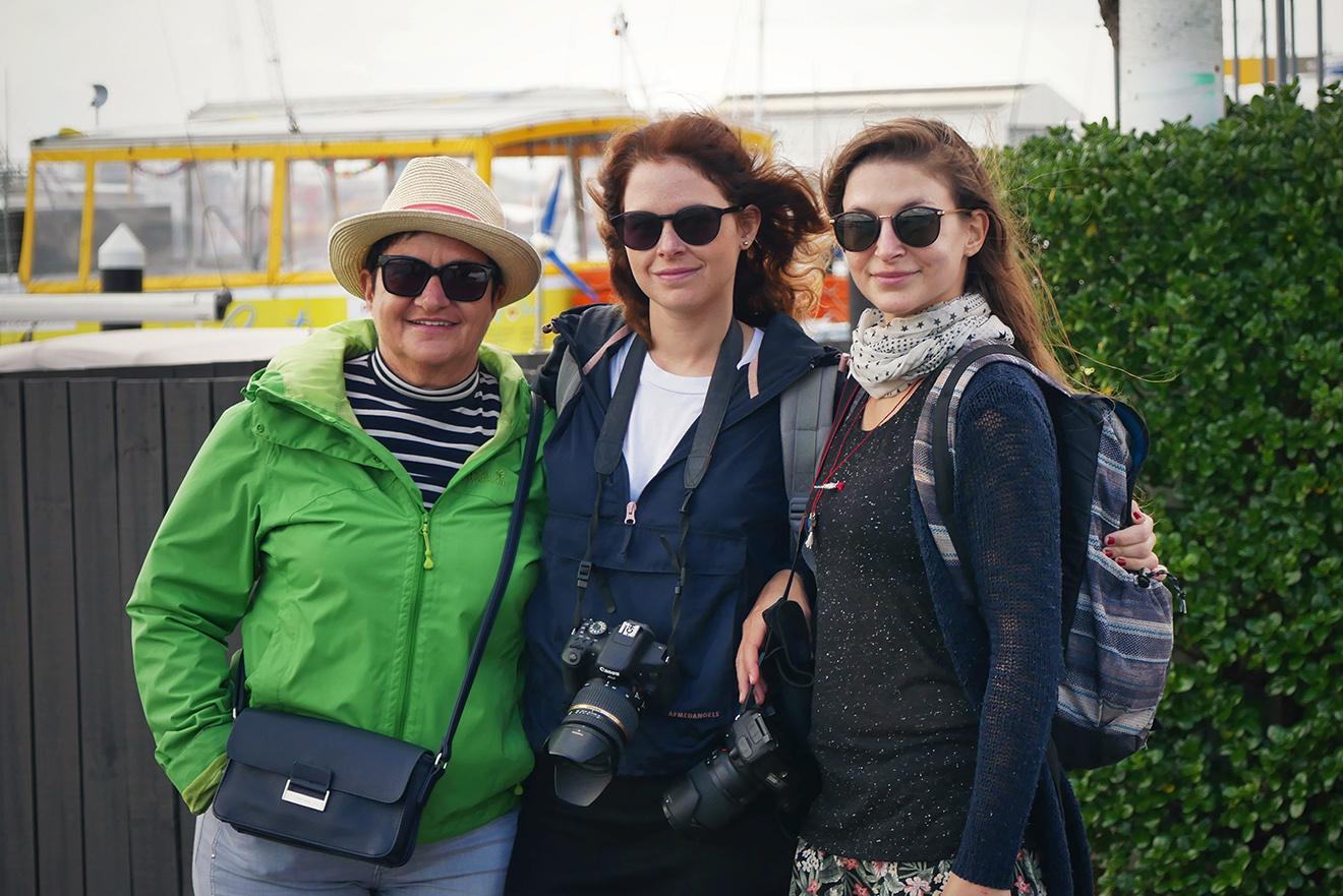 Meine Mutter, meine Schwester, mein Freund und ich